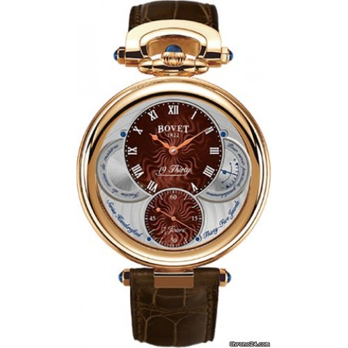 BOVET 19THIRTY FLEURIER ROMAN NUMERALS ROSE GOLD, 42MM