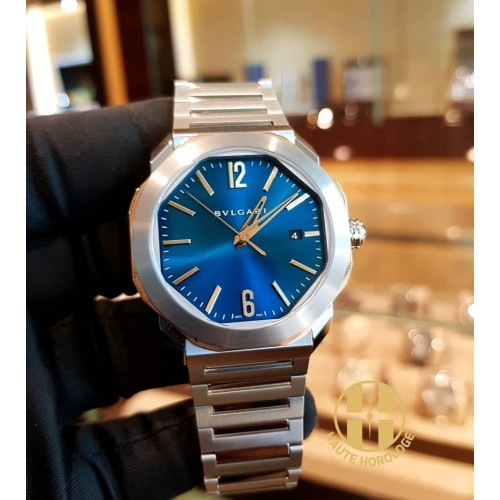 BVLGARI OCTO ROMA STEEL & GOLD BLUE DIAL EXCLUSIVE EDITION 41MM - 102998