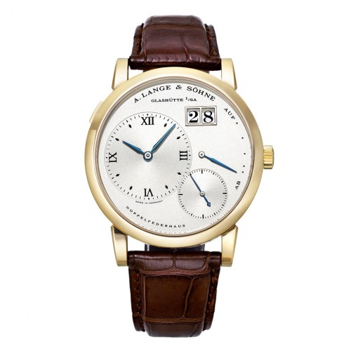 A. LANGE AND SOHNE LANGE 1 SILVER DIAL YELLOW GOLD 38.5MM - 101.022