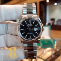 ROLEX DATE JUST STAINLESS STEEL BLACK DIAL 36MM - 126200
