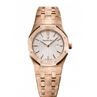 Audemars Piguet Royal Oak 33mm Pinkgold Chocolate Dial 67650or.oo.1261or.01