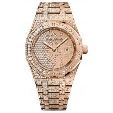 Audemars Piguet Royal Oak Rose Gold Quartz Ladies Watch, 33mm - 67654or.zz.1264or.01