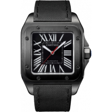Cartier Santos All Black Auto Wssa0006