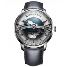 Arnold & Son Globetrotter Silver 38MM