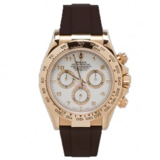 Rubber B Rolex Daytona Watch Espresso Brown Leather Strap