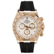 Rubber B Rolex Daytona Watch VulChromatic Brown/Black Leather Strap