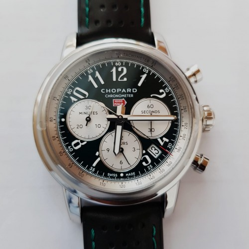 CHOPARD MILLE MIGLIA CHRONO GREEN STAINLESS STEEL LIMITED EDITION OF 300 PCS. 42MM - 168589-3012