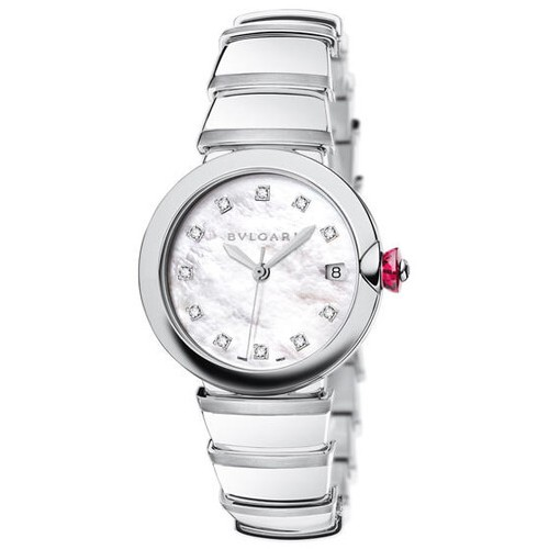 Bvlgari Lvcea Mother of Pearl Diamonds 36MM Steel