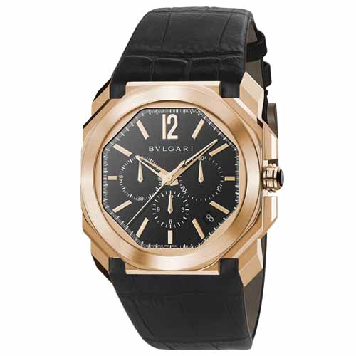 Bvlgari Octo Black Lacquered Polished