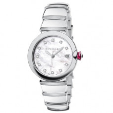 Bvlgari Lvcea White Mother of Pearl Dial