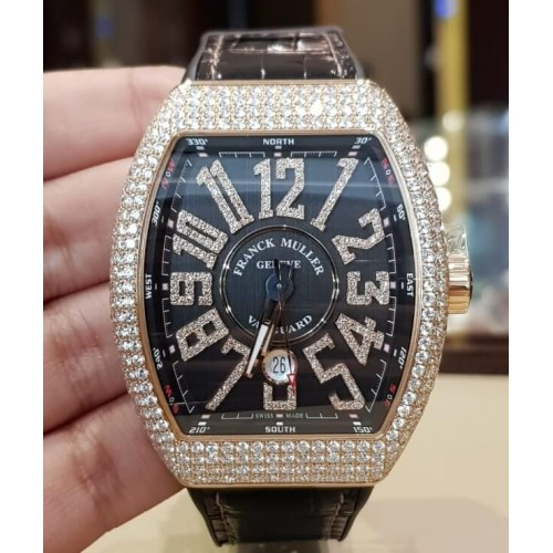 FRANCK MULLER VANGUARD DIAMONDS 45MM V45 SC DT D NBR CD