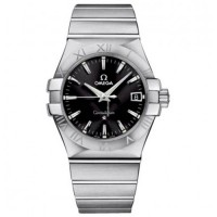 Omega Constellation Quartz Steel Black