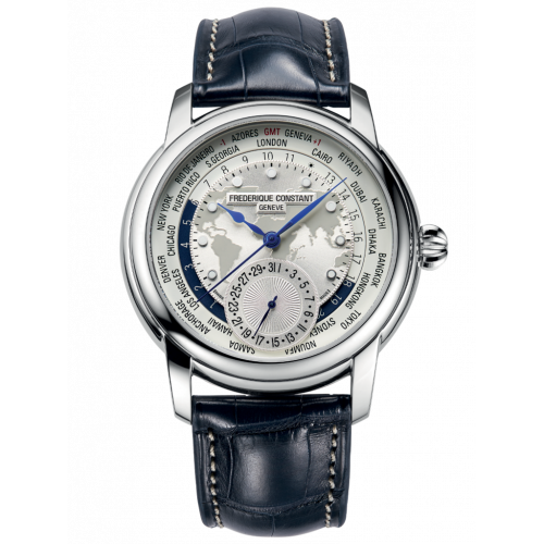 FREDERIQUE CONSTANT CLASSIC WORLD TIMER STEEL 42MM - FC-718WM4H6