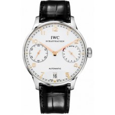 IWC PORTUGUESER STAINLESS STEEL AUTOMATIC 7 DAYS POWER RESERVE 42.3MM - IW500114