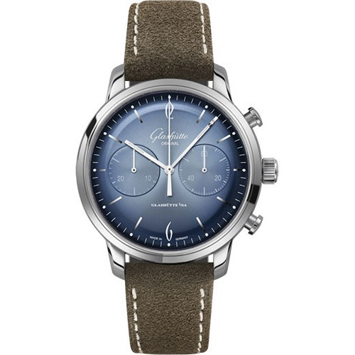 GLASHUTTE ORIGINAL SIXTIES  CHRONOGRAPH ANNUAL EDITION STAINLESS STEEL 42MM - 1-39-34-04-22-04