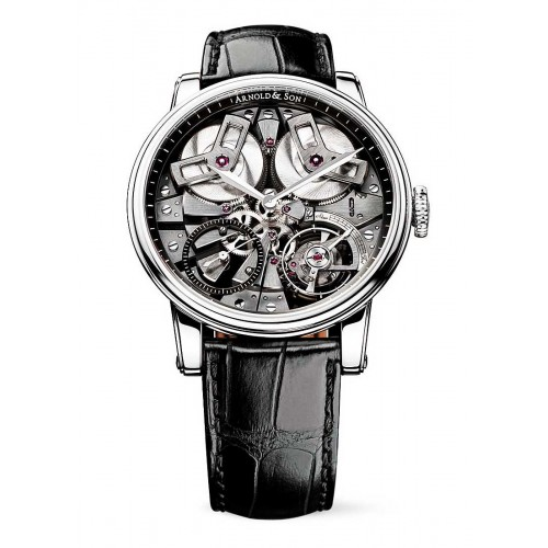 ARNOLD AND SON TB88 (TRUE BEAT) SKELETON STAINLESS STEEL 46MM - 1TBAS.B01A.C113A